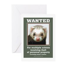 Ferret Wanted Poster Greeting Cards (Pk of 10)