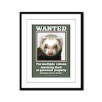 Ferret Wanted Poster Framed Panel Print