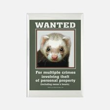 Ferret Wanted Poster Rectangle Magnet