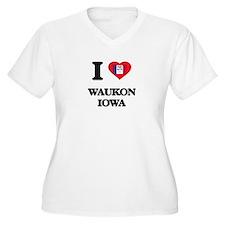 I love Waukon Iowa Plus Size T-Shirt