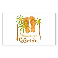 Tropical Hawaiian Bride Rectangle Decal