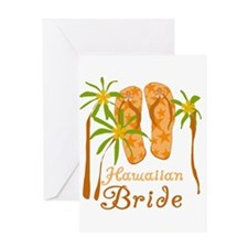 Tropical Hawaiian Bride Greeting Card