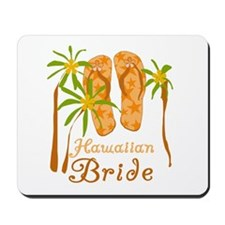 Tropical Hawaiian Bride Mousepad