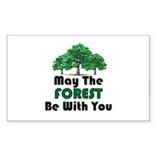 May The Forest Rectangle Bumper Stickers