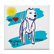 Unique Argentine dogo Tile Coaster