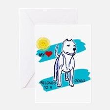 dogos, dogo argentino Greeting Card
