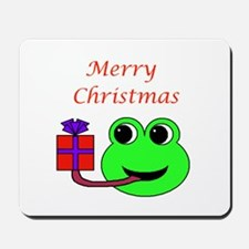 MERRY CHRISTMAS (FROG) Mousepad