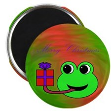 MERRY CHRISTMAS (FROG) Magnet