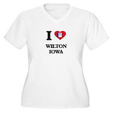 I love Wilton Iowa Plus Size T-Shirt
