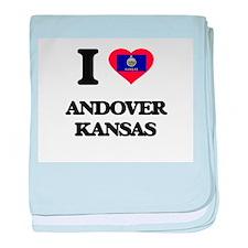 I love Andover Kansas baby blanket