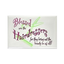 Blessed are the Hairdressers Rectangle Magnet