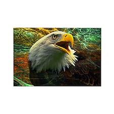 Screaming Eagle Rectangle Magnet