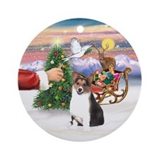 Santa's Treat for his Tri Corgi Ornament (Round)