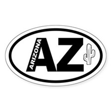 Arizona Cactus Oval Decal