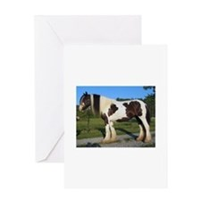 horse gypsy vanner Greeting Cards