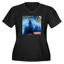 Discover the Women's Plus Size V-Neck Dark T-Shirt
