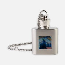 Discover the World: Ghost Mountain Flask Necklace