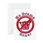 No Drama Zone Greeting Cards (Pk of 10)