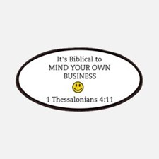 Mind Your Own Business, It's Biblical Patch