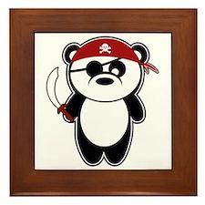Pirate Panda Framed Tile