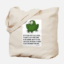 EAT A FROG.  MARK TWAIN Tote Bag