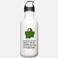 EAT A FROG.  MARK TWAI Water Bottle