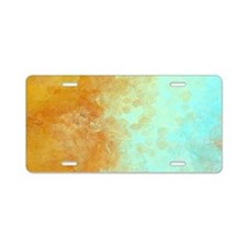 Abstract in Earth and Water Aluminum License Plate