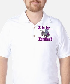 Z is for Zombee Golf Shirt