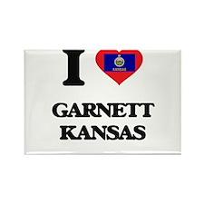 I love Garnett Kansas Magnets