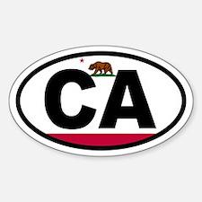 California Flag Oval Decal