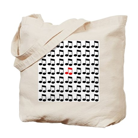 Eighth Notes Pattern Gifts an Tote Bag