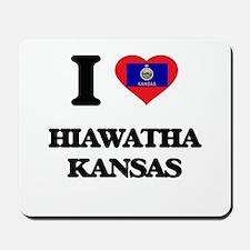 I love Hiawatha Kansas Mousepad