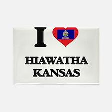 I love Hiawatha Kansas Magnets