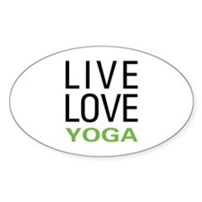 Live Love Yoga Oval Decal