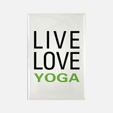 Live Love Yoga Rectangle Magnet