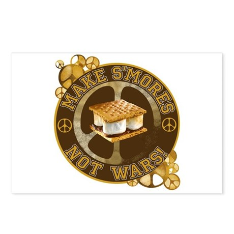 Make Smores Not Wars Postcards (Package of 8)