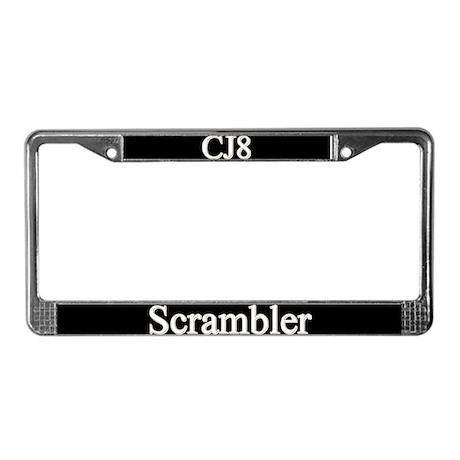 CJ8 Scrambler License Plate Frame