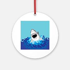 Shark Attack Ornament (Round)