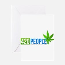 420 People Logo Classic 1 Greeting Cards
