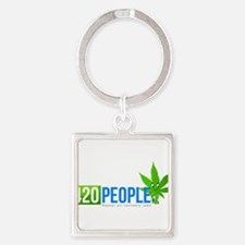 420 People Logo Classic 1 Keychains