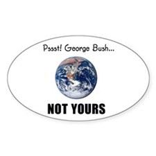 Not your planet Oval Decal