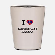 I love Kansas City Kansas Shot Glass