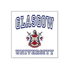 """Cute Glasgow Square Sticker 3"""" x 3"""""""