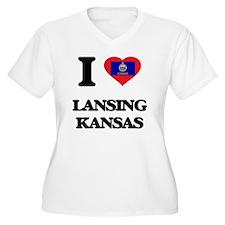 I love Lansing Kansas Plus Size T-Shirt