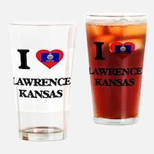 I love Lawrence Kansas Drinking Glass