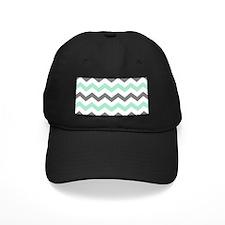 Mint and Gray Chevron Pattern Baseball Hat