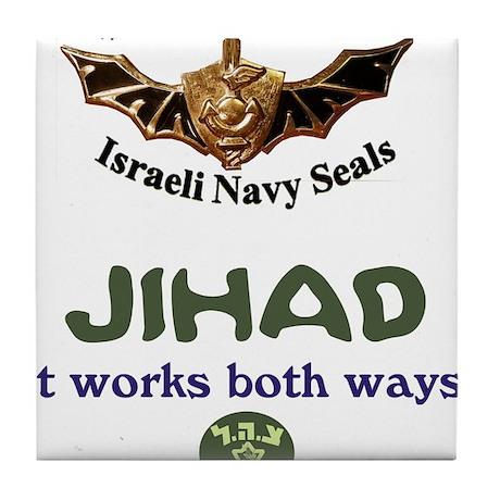 IDF Seals JIHAD Tile Coaster