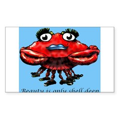 Beauty is only shell deep Rectangle Decal