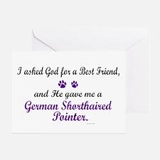 God Gave Me A German SH Pointer Greeting Card