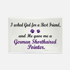 God Gave Me A German SH Pointer Rectangle Magnet